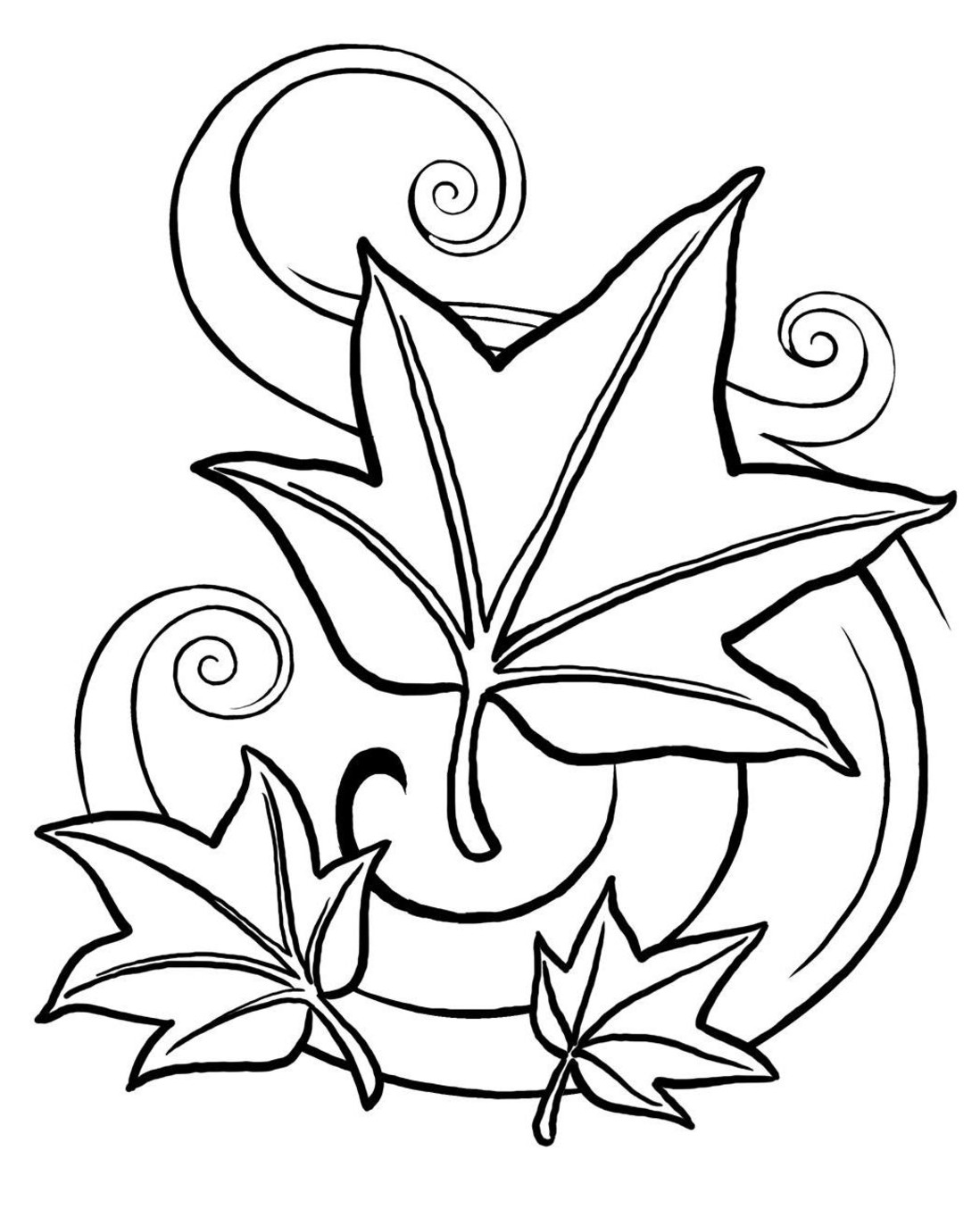 fall coloring pages photo - 1