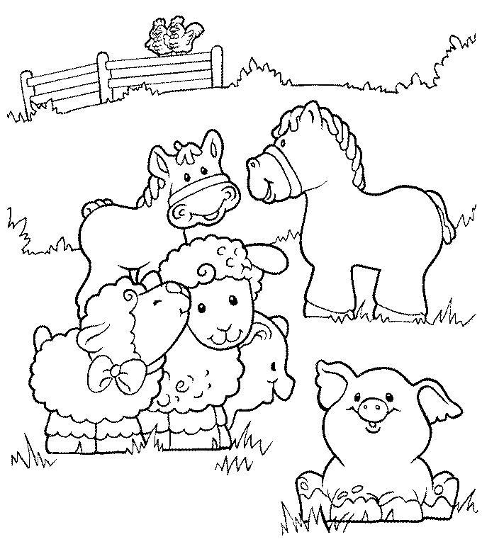 farm coloring pages photo - 1