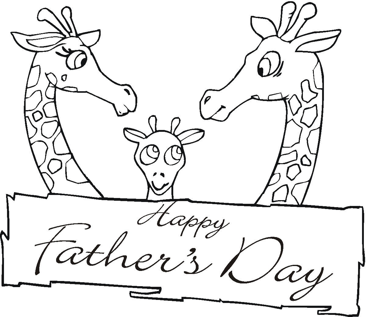 fathers day coloring pages photo - 1