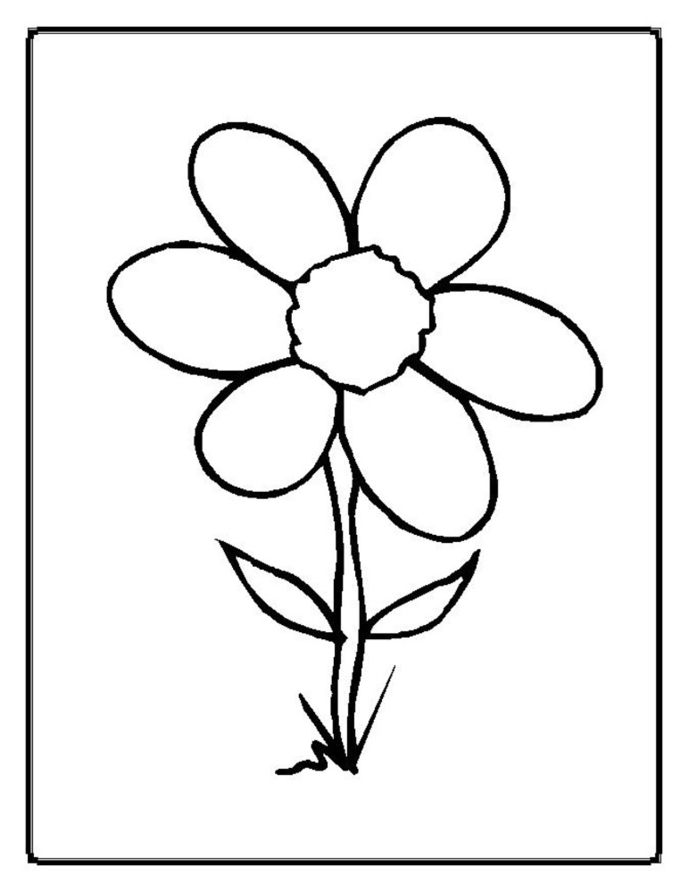 flowers coloring pages photo - 1