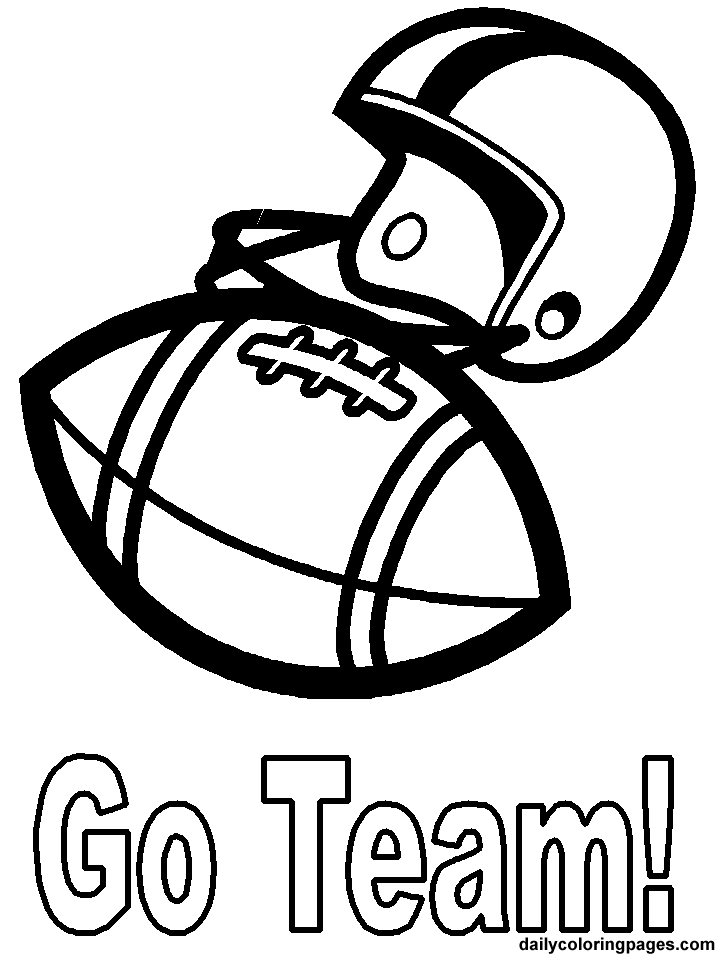 football coloring pages photo - 1