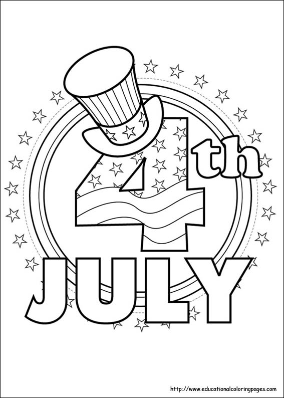 fourth of july coloring pages photo - 1