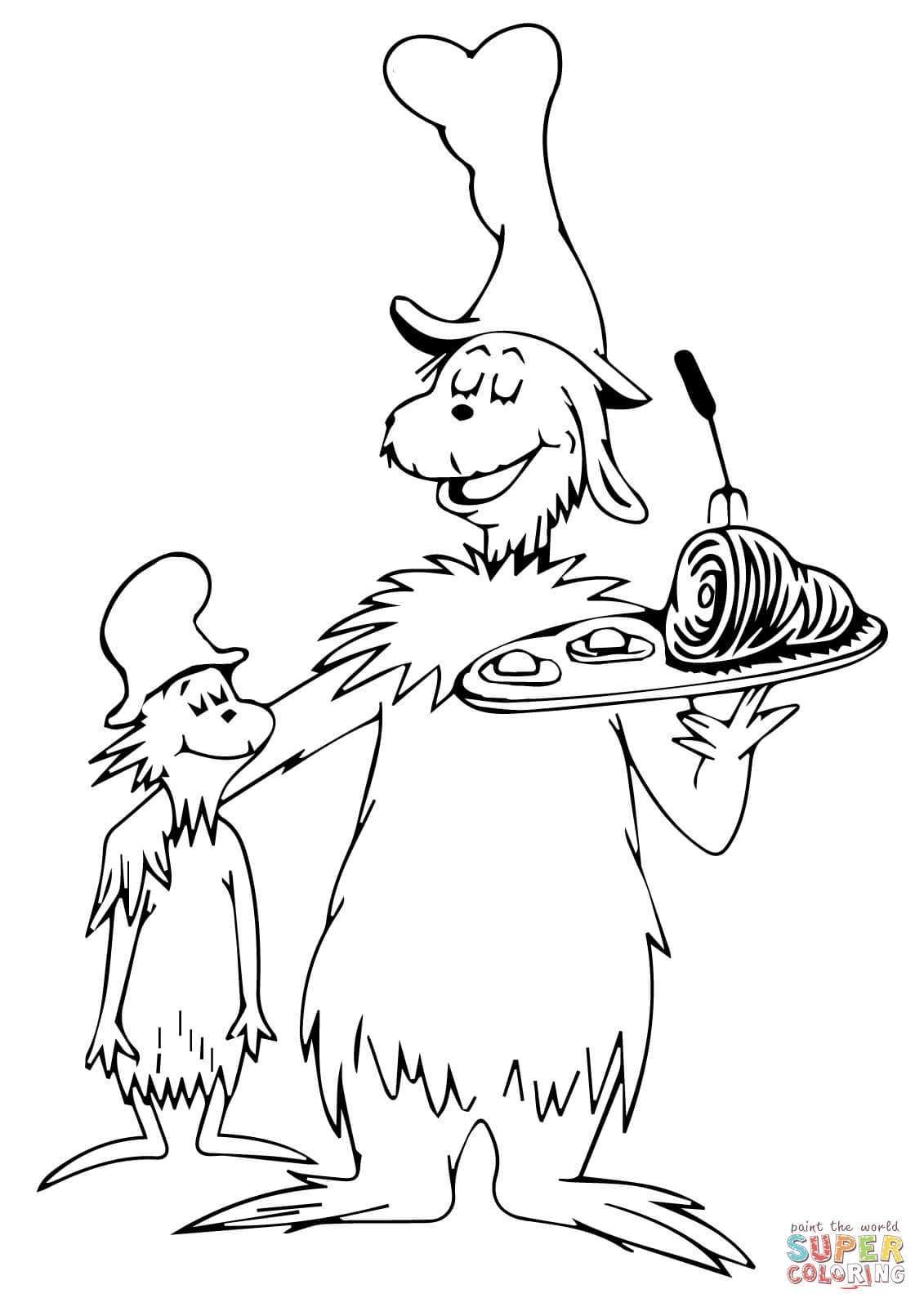 free printable green eggs and ham coloring pages photo - 1