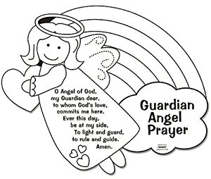 free printable guardian angel coloring pages photo - 1