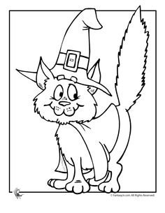 free printable halloween cat coloring pages photo - 1