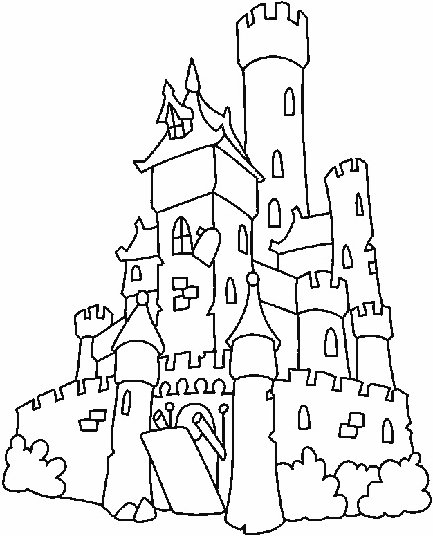 free printable haunted house coloring pages photo - 1