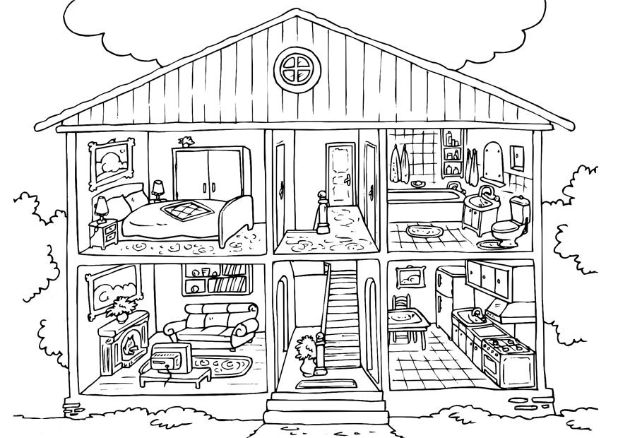 free printable house coloring pages photo - 1