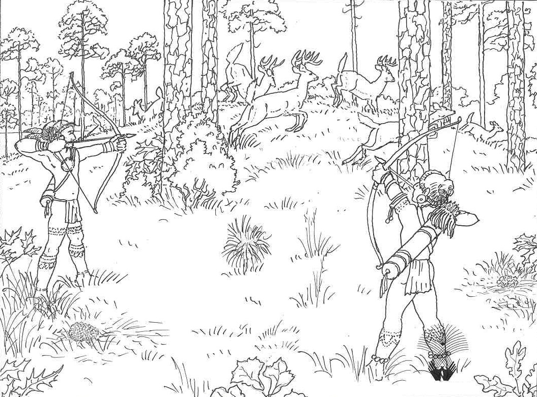 free printable hunting coloring pages photo - 1