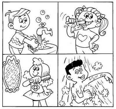 free printable hygiene coloring pages photo - 1