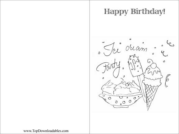 free printable ice cream coloring pages photo - 1