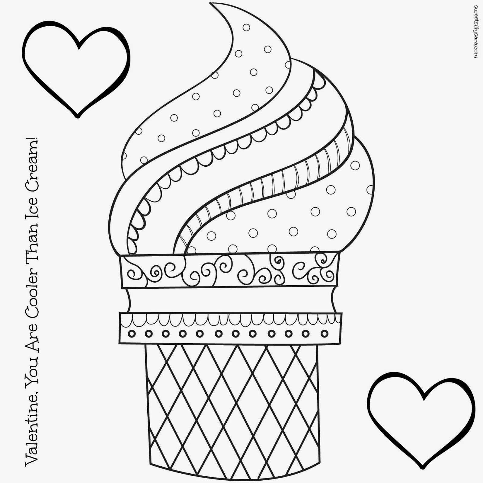 free printable ice cream cone coloring pages photo - 1