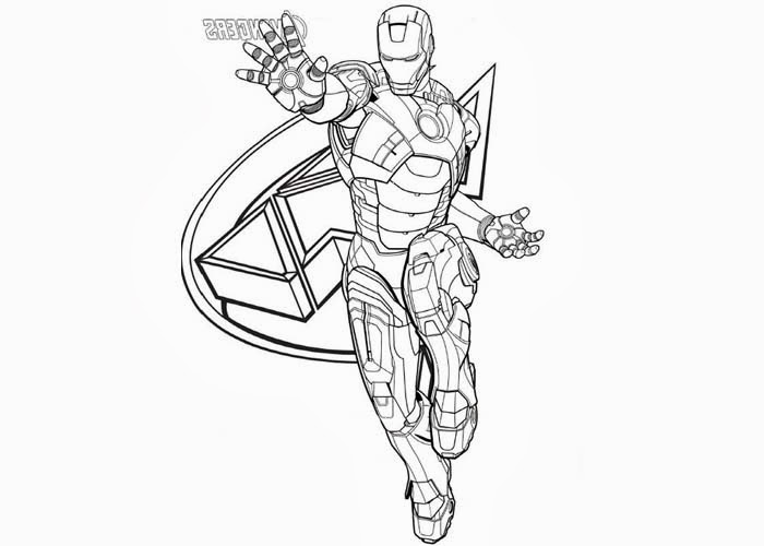 free printable iron man 2 coloring pages photo - 1