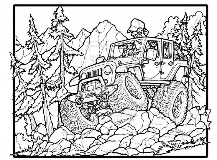 free printable jeep coloring pages photo - 1