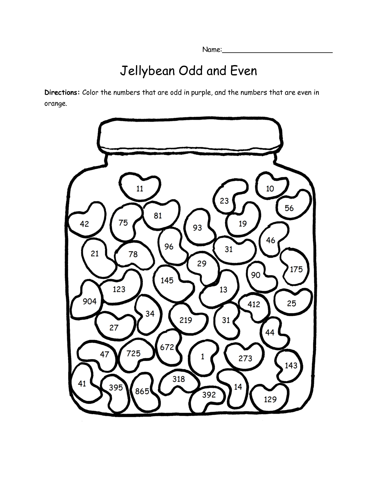 free printable jelly bean coloring pages photo - 1