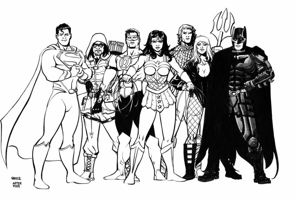 free printable justice league coloring pages photo - 1
