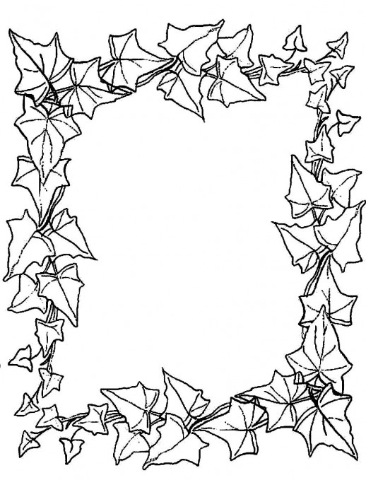 free printable leaf coloring page photo - 1