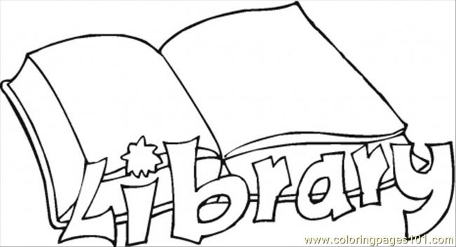 free printable library coloring pages photo - 1