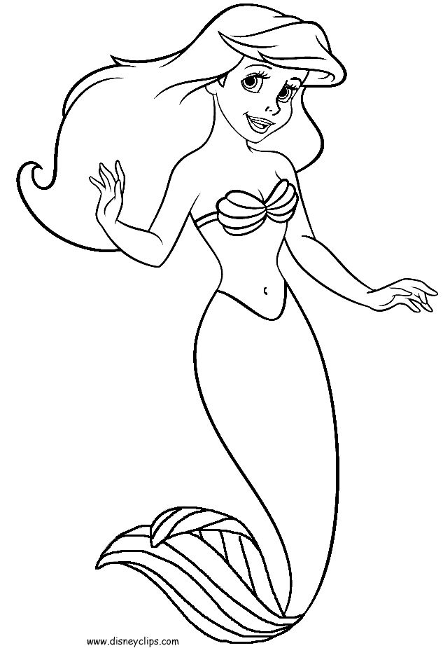 free printable little mermaid coloring pages photo - 1