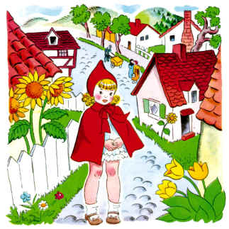 free printable little red riding hood coloring pages photo - 1