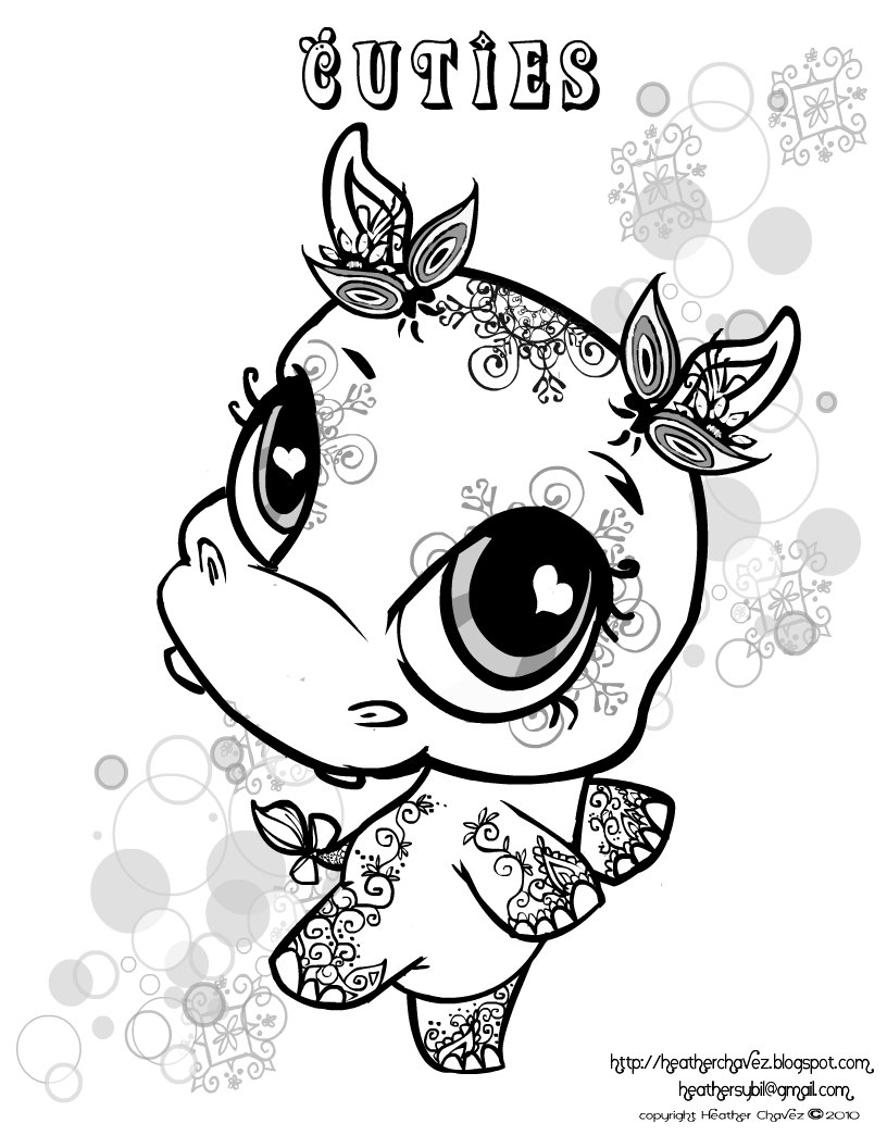 free printable littlest pet shop coloring pages photo - 1