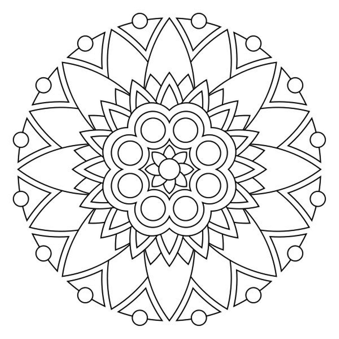 free printable mandala coloring pages photo - 1