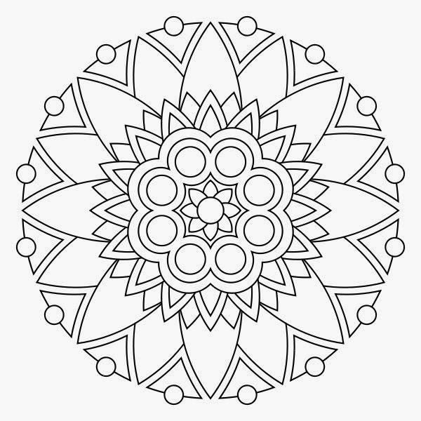 free printable mandala coloring pages com photo - 1