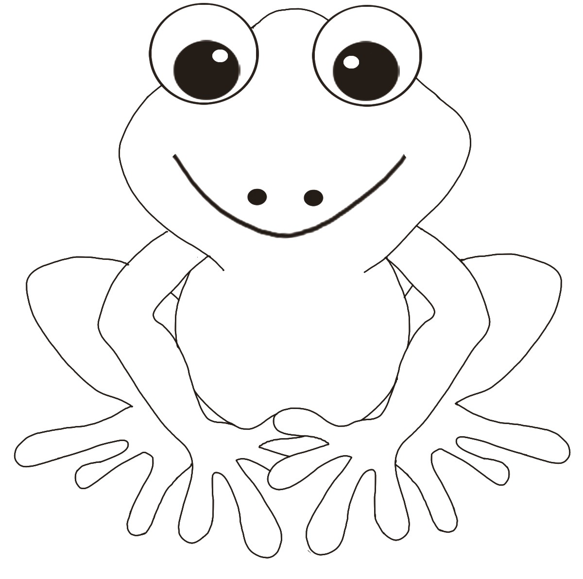 frog coloring pages photo - 1