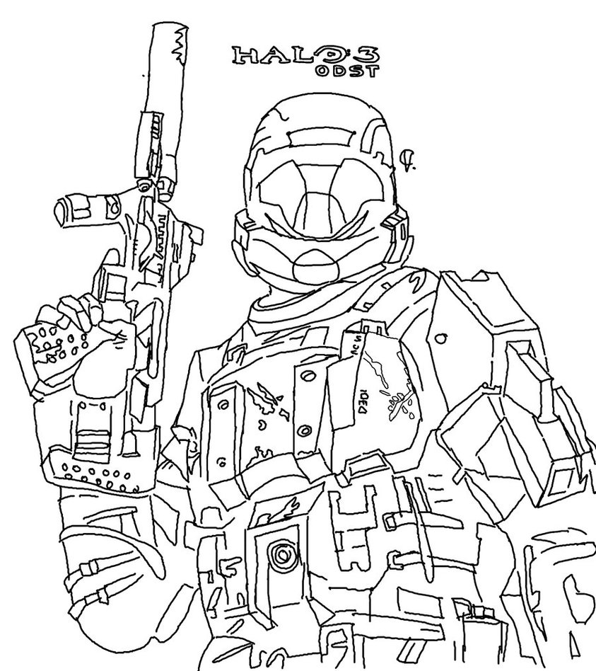 halo coloring pages photo - 1