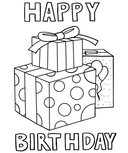 happy birthday coloring pages photo - 1