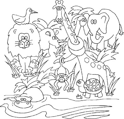 jungle animal coloring pages for preschoolers photo - 1