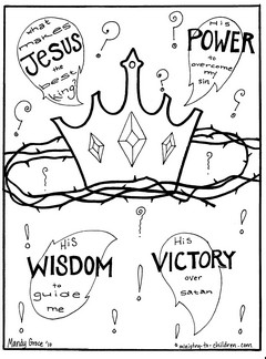 k is for king of kings coloring page photo - 1