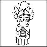 kachina doll coloring page photo - 1