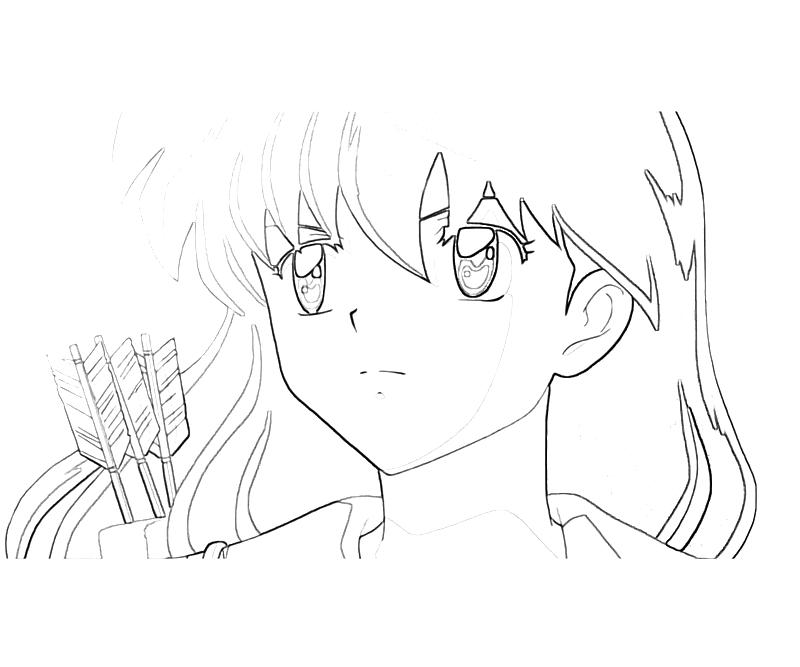 kagome higurashi coloring pages photo - 1