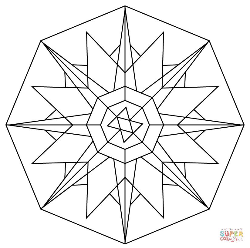 kaleidoscope coloring page photo - 1