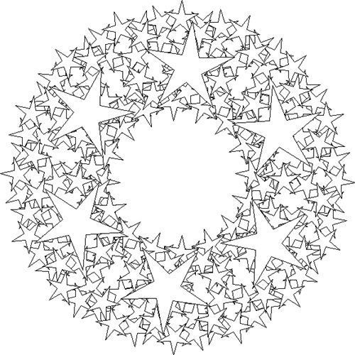kaleidoscope coloring pages photo - 1