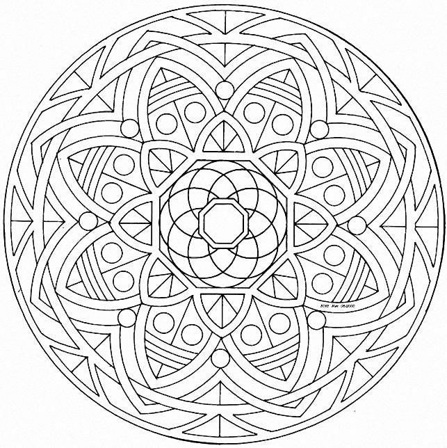 kaleidoscope printable coloring pages photo - 1