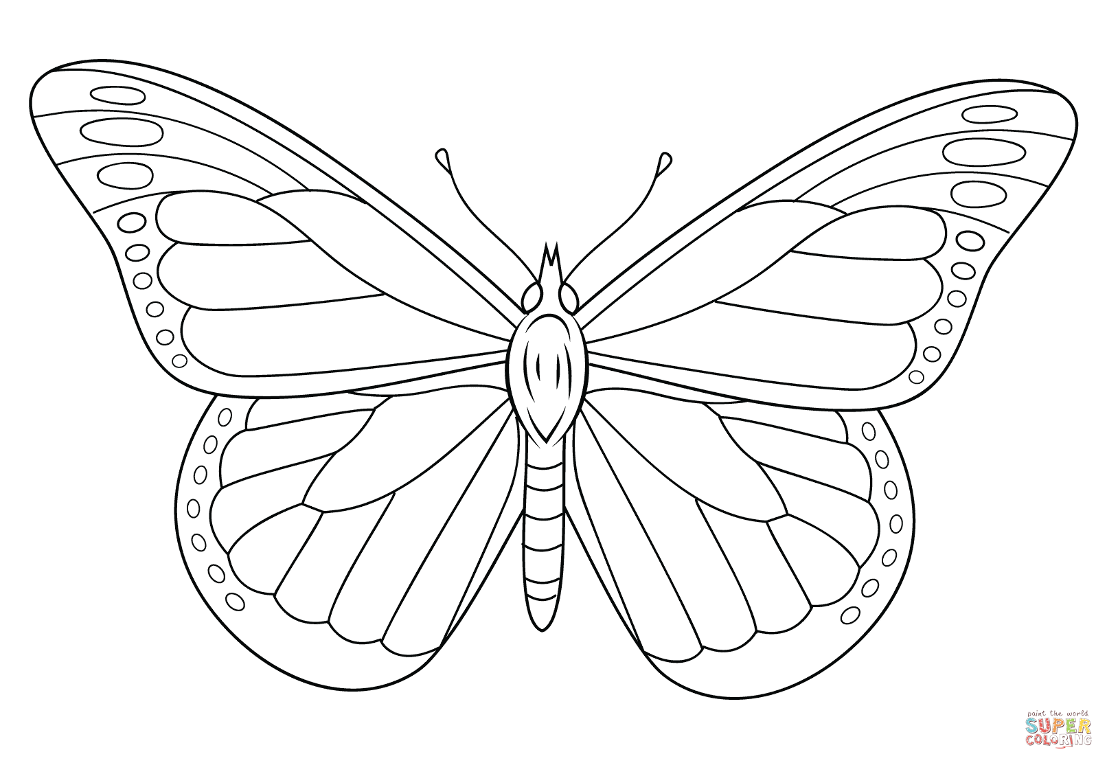 kamehameha butterfly coloring page photo - 1