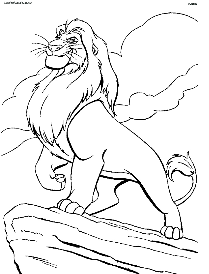lion king coloring pages photo - 1