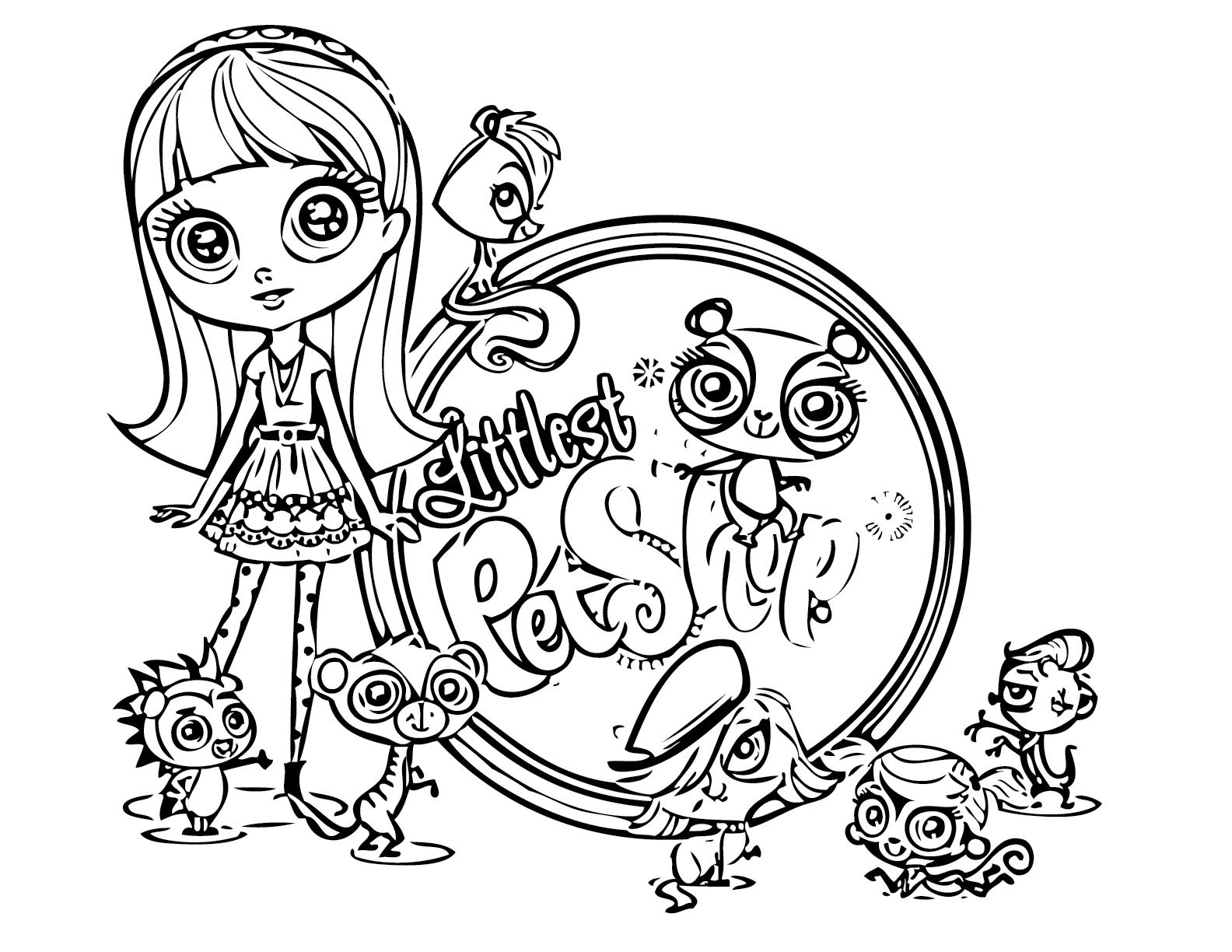 littlest pet shop coloring pages photo - 1