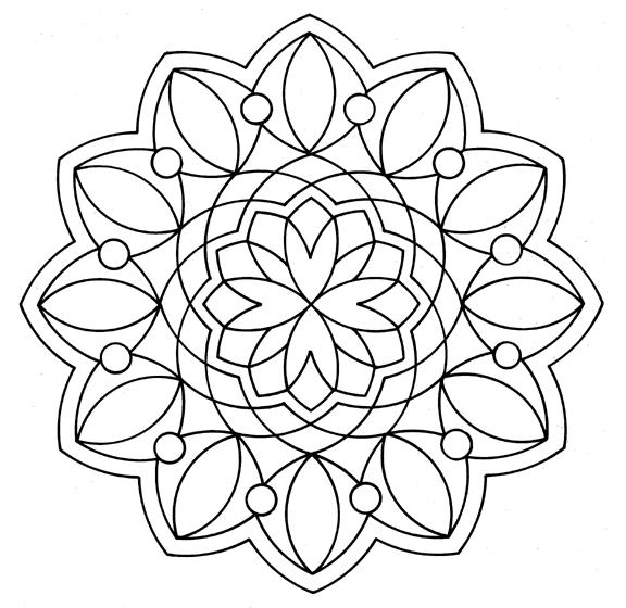 mandala coloring pages photo - 1