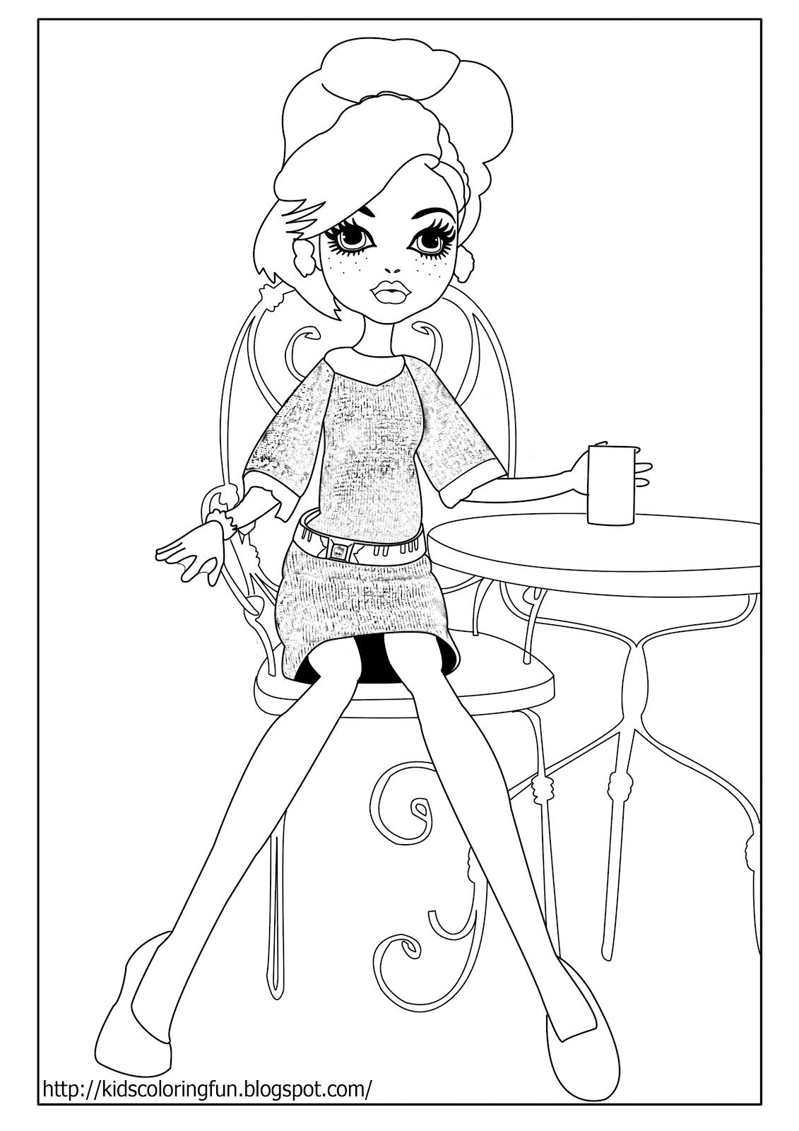 monster coloring pages photo - 1