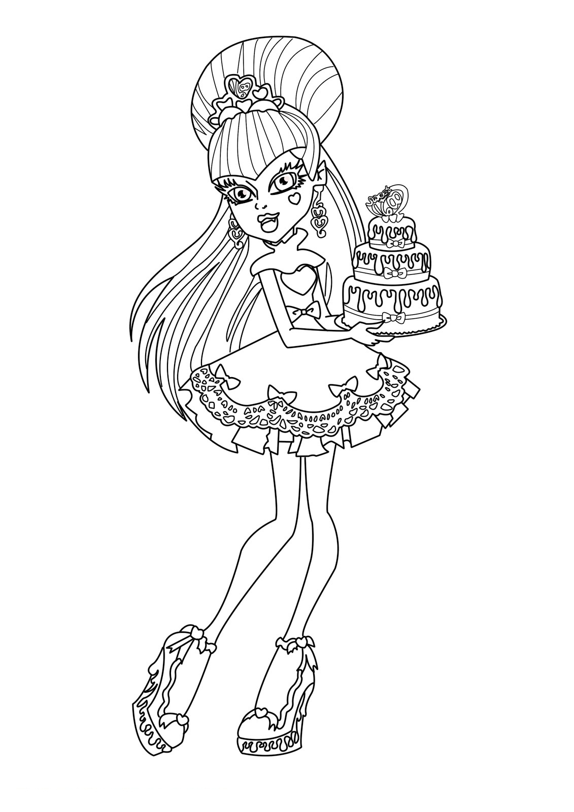 monster high coloring pages photo - 1