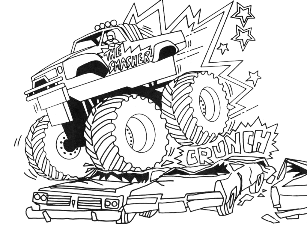 monster truck coloring pages photo - 1