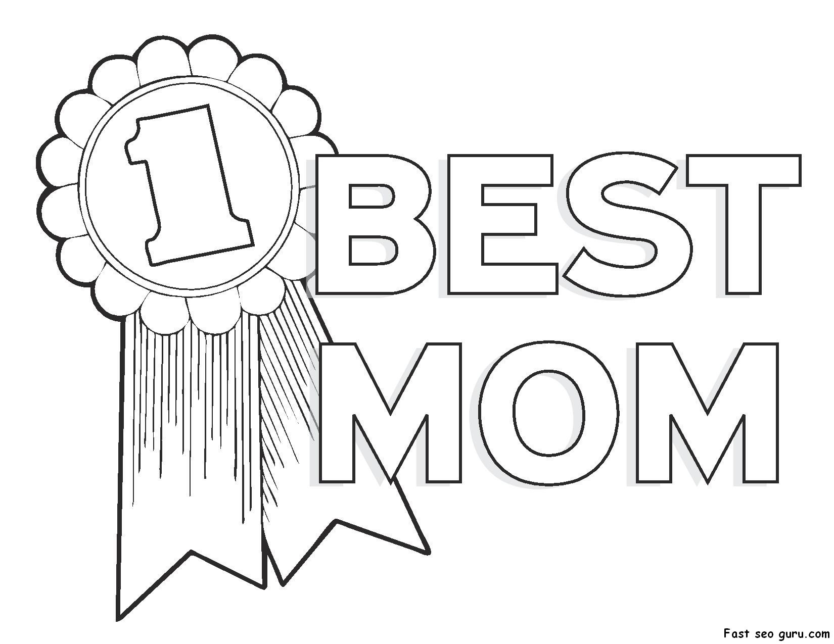 mothers day coloring pages photo - 1