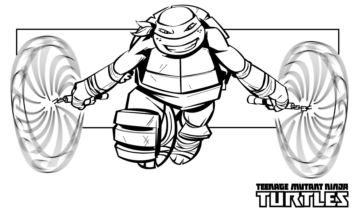 ninja turtle coloring pages photo - 1