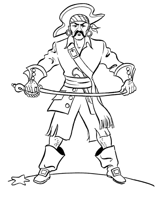 pirate coloring pages photo - 1