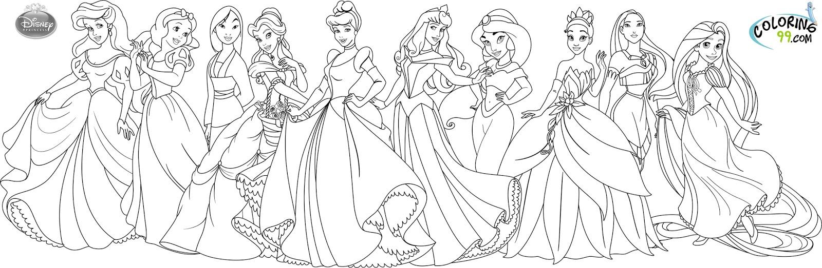 princess coloring pages photo - 1
