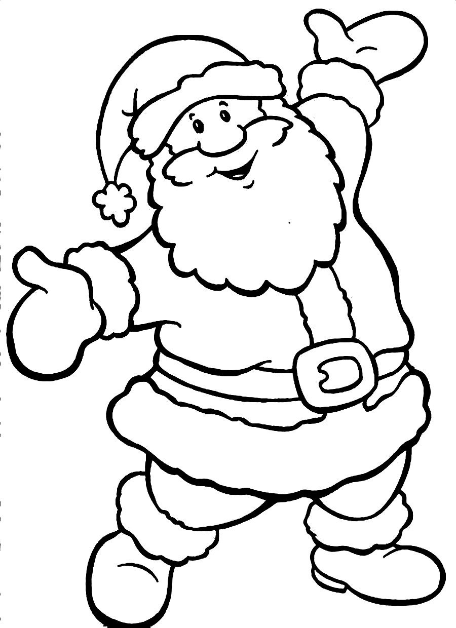 santa coloring pages photo - 1