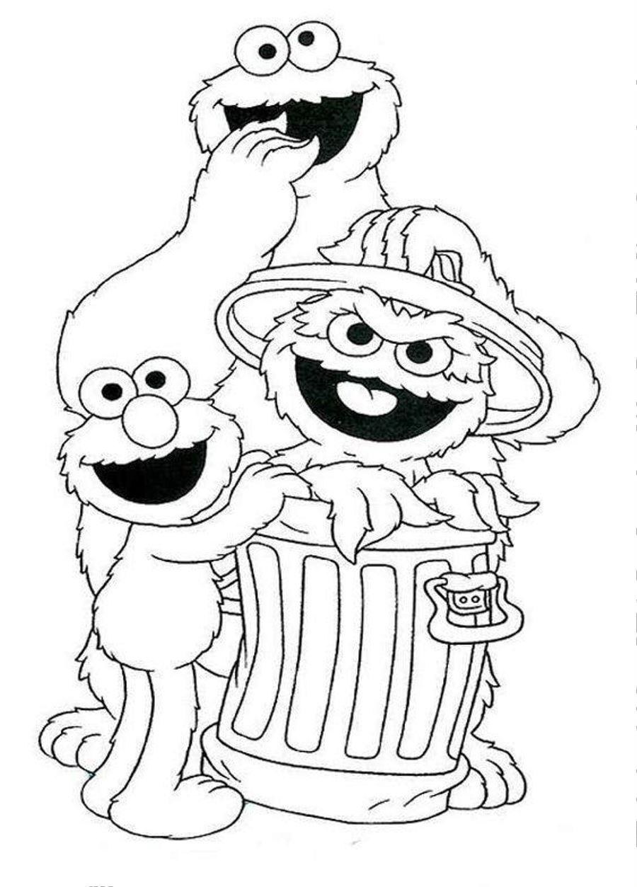 sesame street coloring pages photo - 1