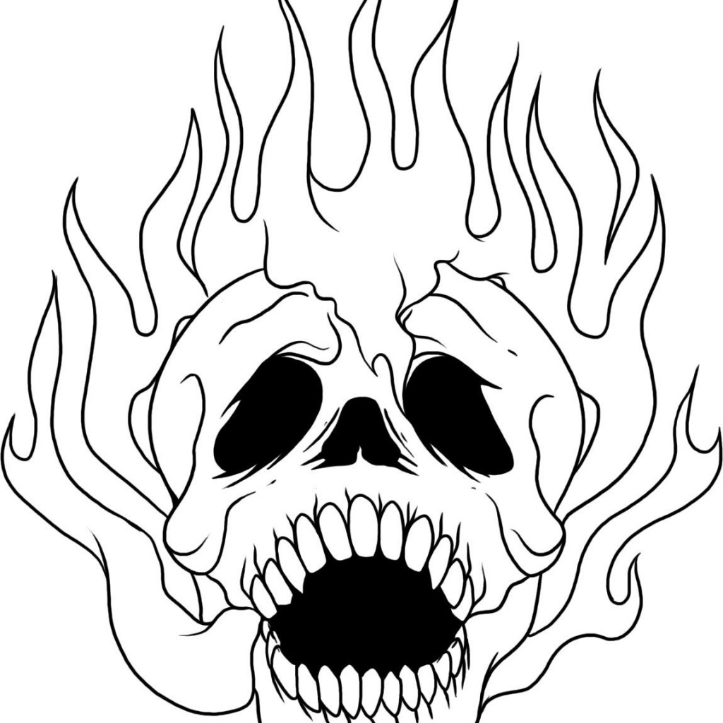 skull coloring pages photo - 1